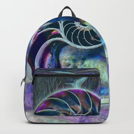 Iridescent Shell Snail Fossil Backpack