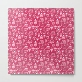 You are loved - Valentine's Day pattern Metal Print