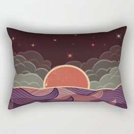 Ocean at Night Rectangular Pillow