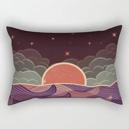 MOON WAVE NIGHT Rectangular Pillow