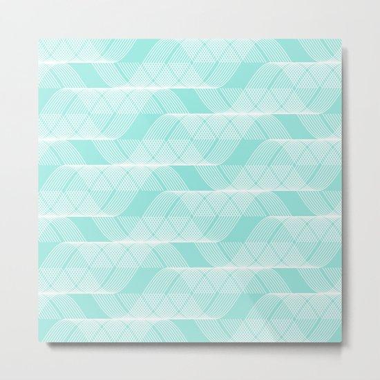 Blue Tiffany Helix Metal Print