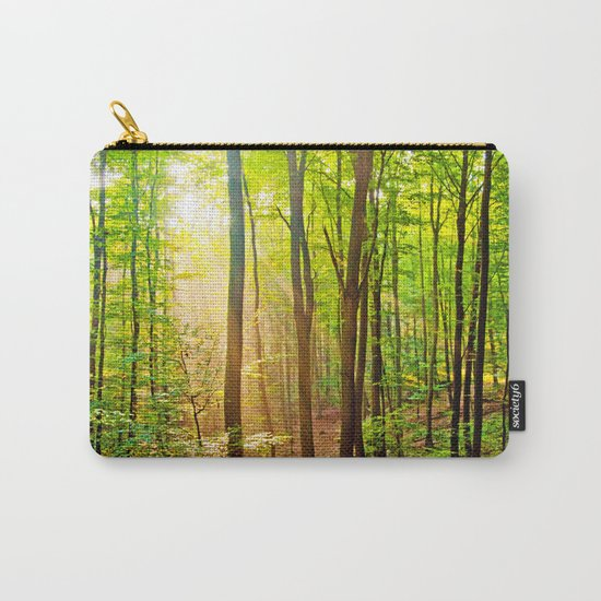 Sunbeams in the forest Carry-All Pouch