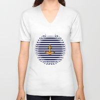 marine V-neck T-shirts featuring Marine by Elena Indolfi