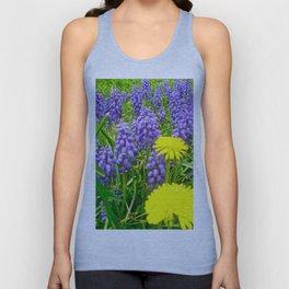 Field of Flowers, Dandelions and Bluebonnets Unisex Tank Top