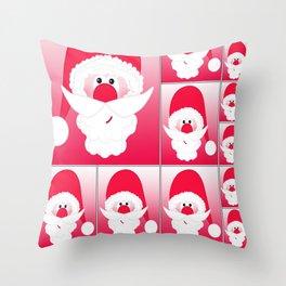 Santa Claus Collage CB Throw Pillow