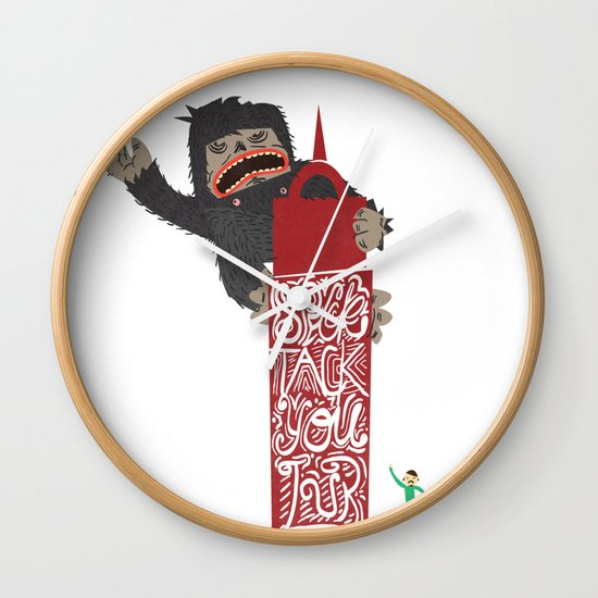 Speck Tack You Lur Deeds Wall Clock