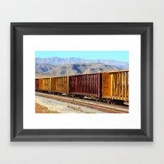 A Rail of Color Framed Art Print