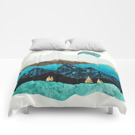 Teal Afternoon Comforters