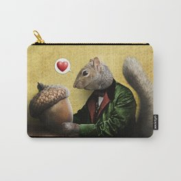 Mr. Squirrel Loves His Acorn! Carry-All Pouch