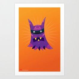 Prince the Purple Passion Monster. Art Print