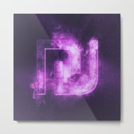 Israeli Shekel currency symbol. Shekel Sign. Monetary currency symbol. Abstract night sky background Metal Print