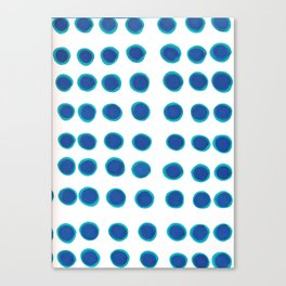 Blue Circles Canvas Print