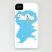 Young Clouds fooling around iPhone (4, 4s) Slim Case