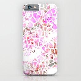 Giraffe Flower Print iPhone Case