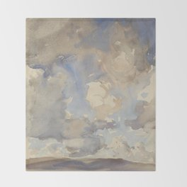 Clouds By John Singer Sargent Painting Throw Blanket