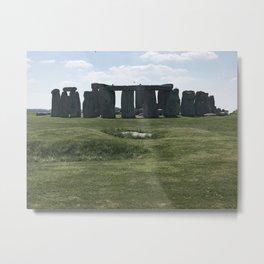 Stonehenge in the Sun Metal Print