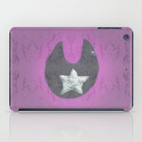 pentagram iPad Cases featuring Black Moon Tin Star Pentagram by The Witches Brew