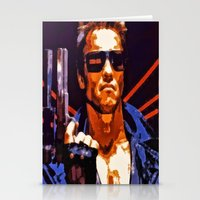 terminator Stationery Cards featuring The Terminator by Joe Misrasi
