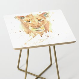 African Lion Side Table