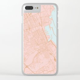 Palermo map Clear iPhone Case