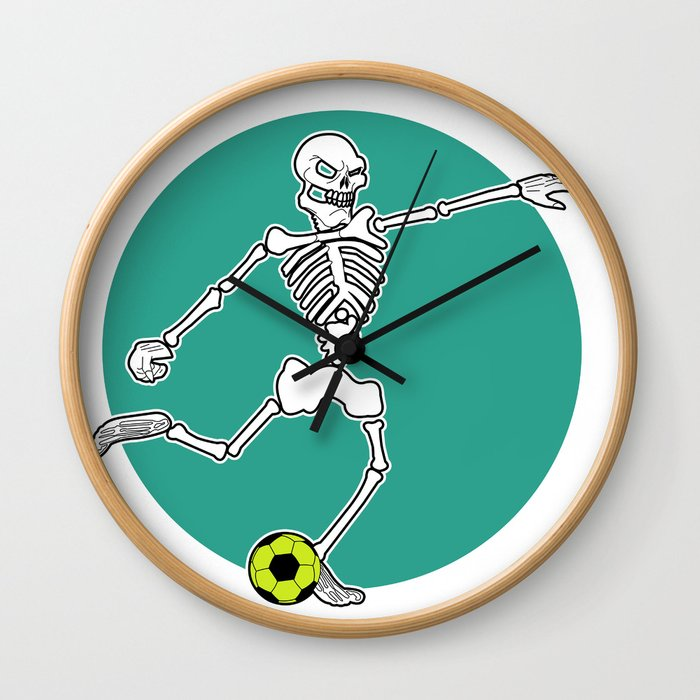 Calavera Soccer Wall Clock