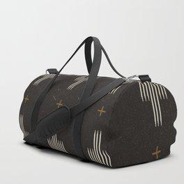 Southwestern Minimalist Black & White Duffle Bag