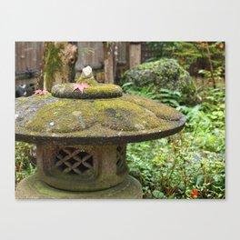 Stone lantern in Mino-o Canvas Print