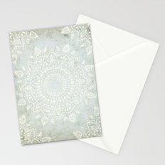 Powder Blue Mandala Stationery Cards