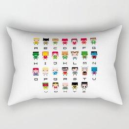 Superhero Alphabet Rectangular Pillow