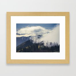 Mountain Clouds Framed Art Print
