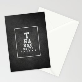 Thank god is techno Stationery Cards