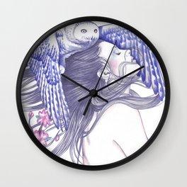 Blue Wind Wall Clock