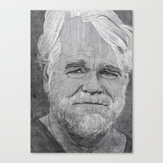 Philip Seymour Hoffman illustration Canvas Print
