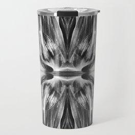 277 - Black & White Abstract Flower design Travel Mug