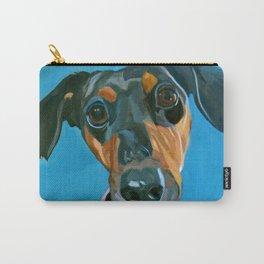 Sassy the Dashchund Dog Portrait Carry-All Pouch