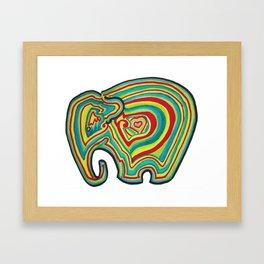 Vibrant Elephant Framed Art Print