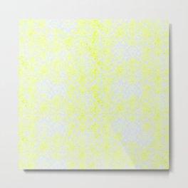 Damask Yellow Metal Print