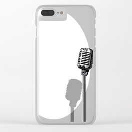 Musical Event Microphone Poster Clear iPhone Case