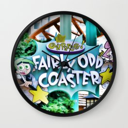 Fairly Odd Coaster Wall Clock