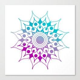Mandala #2 (Purple Pink Turquiose) Canvas Print