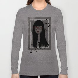 Never met a Hipster that really needs glasses Long Sleeve T-shirt