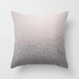 Blush Pink Sparkly Glitter Dust Throw Pillow