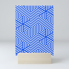 Blue (RYB) - blue - Minimal Vector Seamless Pattern Mini Art Print