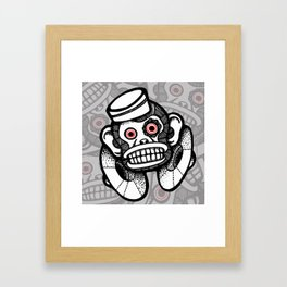 Creepy Cymbal-banging Monkey Framed Art Print