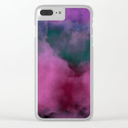 Fogged Pink Clear iPhone Case