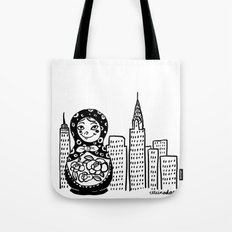 From Russia To Manhattan Tote Bag