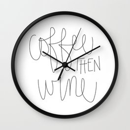 Coffee then Wine Wall Clock