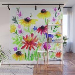 Summer Wildflowers Wall Mural