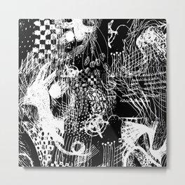 graphic Metal Print