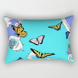 BUTTERFLIES IN FLIGHT PATTERN by gail sarasohn Rectangular Pillow
